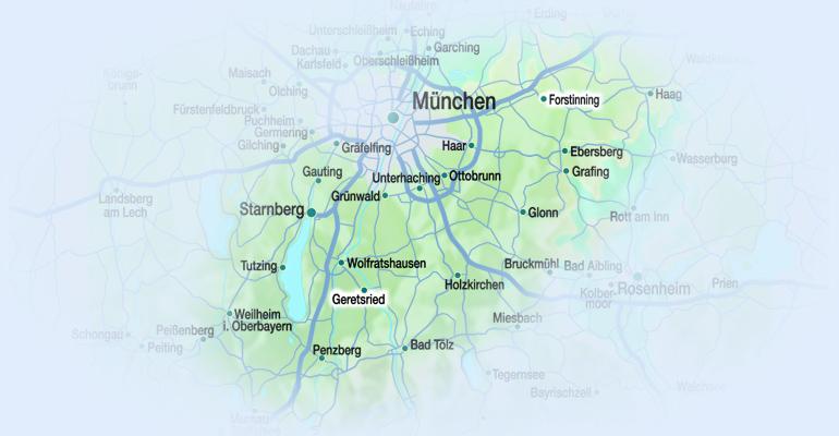 Karte Einzugsgebiet Ehgartner